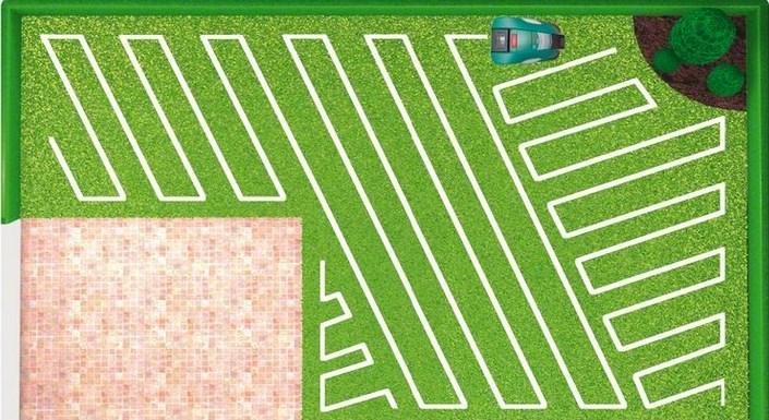 Робот газонокосилка bosch indego формирует виртуальную карту движения