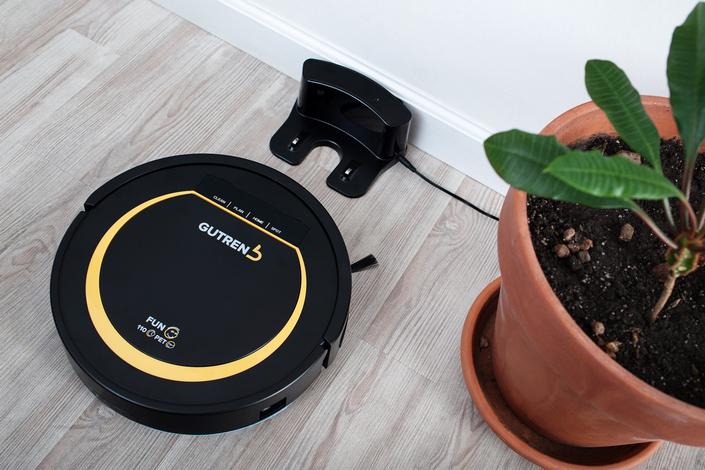 робот пылесос гутренд фото вместе с зарядной станцией