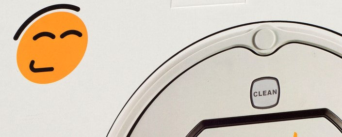робот пылесос гутренд имеет весёлый логотип фото