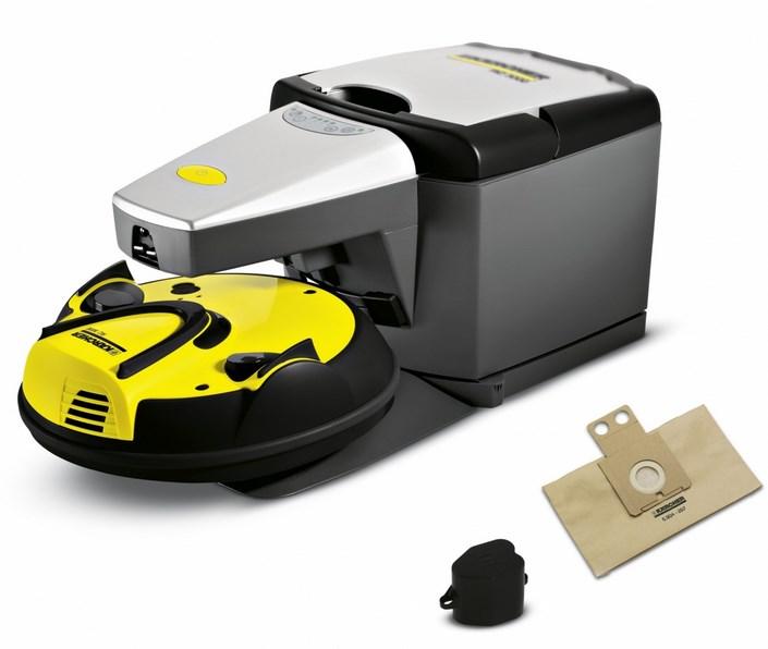 робот пылесос керхер скидывает мусор в пакет базы