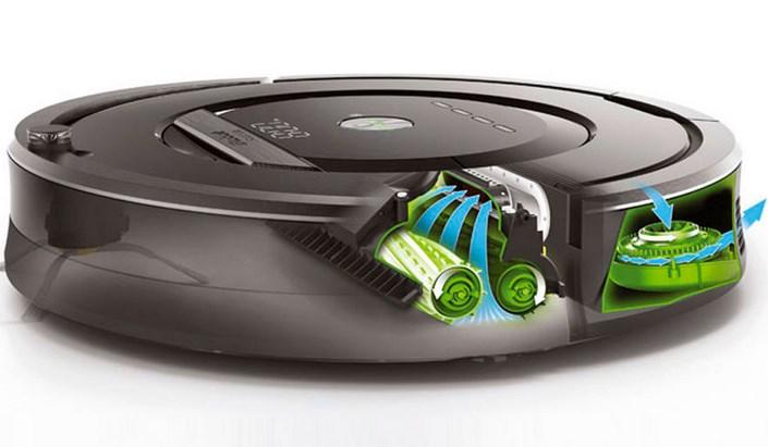 фото робот пылесос irobot roomba 616 в разрезе